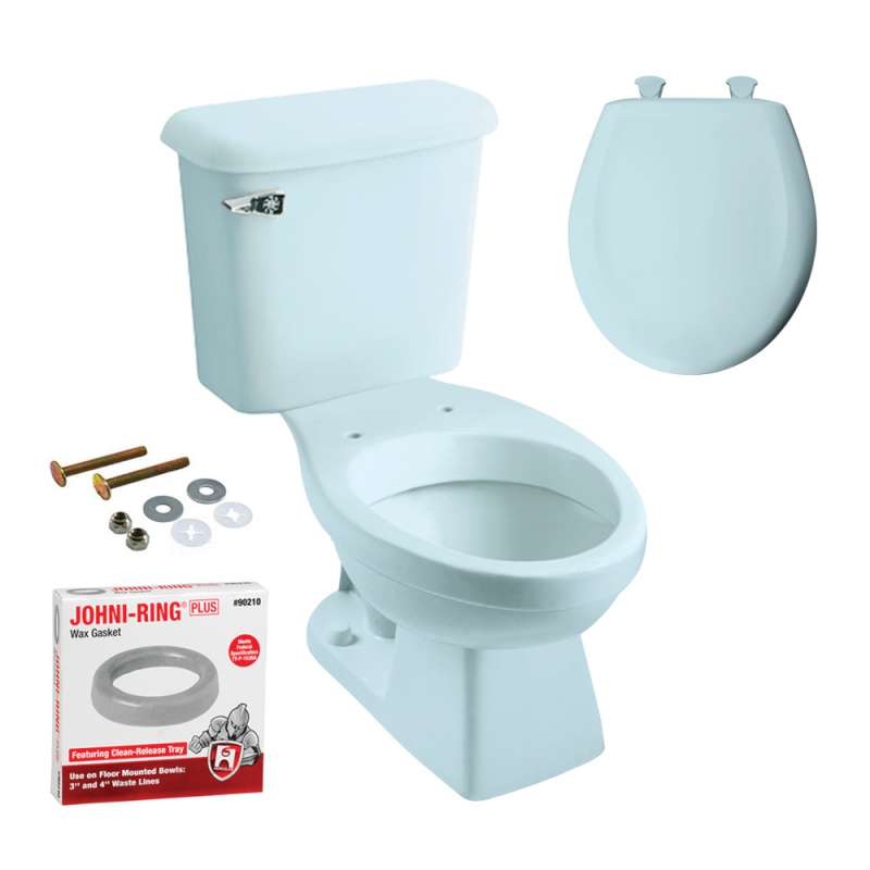 Madison Round Toilet Kit With Seat Dresden Blue