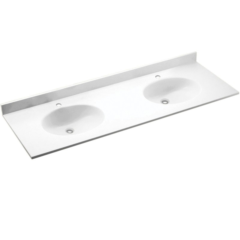 Swan Chesapeake Solid Surface 73-in x 22-in CH2B2273-010