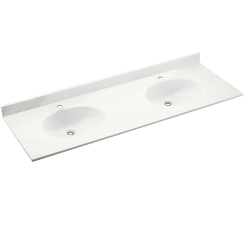 Swan Chesapeake Solid Surface 73-in x 22-in CH2B2273-011