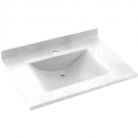 Swan Contour Solid Surface 25-in x 22-in CV-2225-M