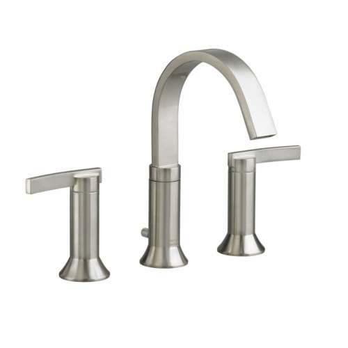 American Standard Berwick Widespread Lavatory Faucet With Metal Lever Handles And Pop-Up Drain