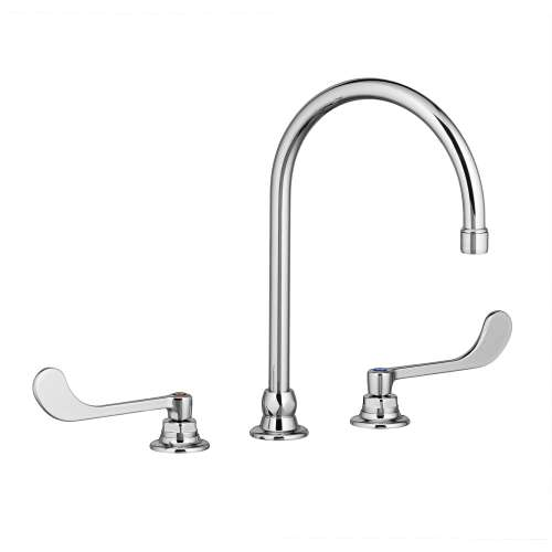 American Standard Monterrey 1.5 GPM Widespread Bathroom Faucet With 8-In Gooseneck Spout And 6-In Wrist Blade Handles
