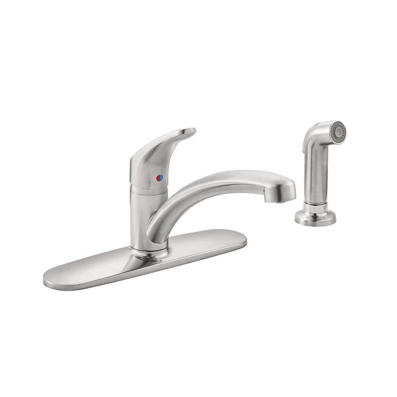 Sale American Standard Colony Pro Single Handle Kitchen Faucet With  Integrated Side Sprayer And Escutcheon Plate