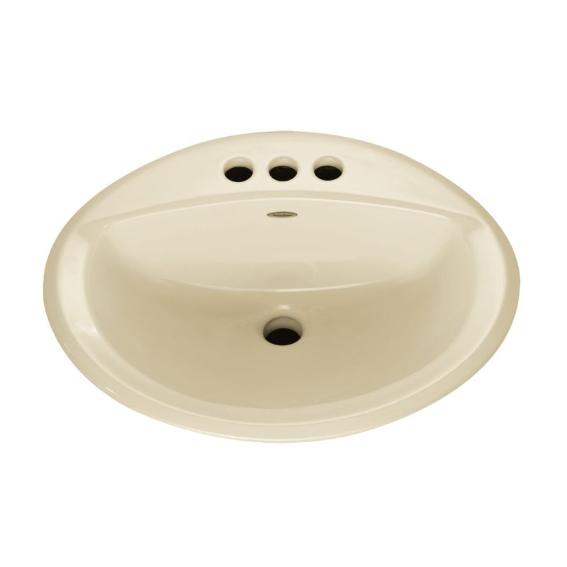 American Standard Aqualyn Oval Drop In Bathroom Sink With 3 Faucet Holes 4 Centers