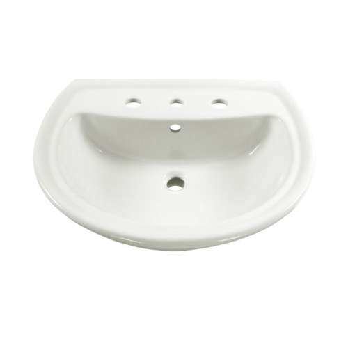 American Standard Cadet Pedestal Lavatory Top With 3 Faucet Holes (8 Centers)