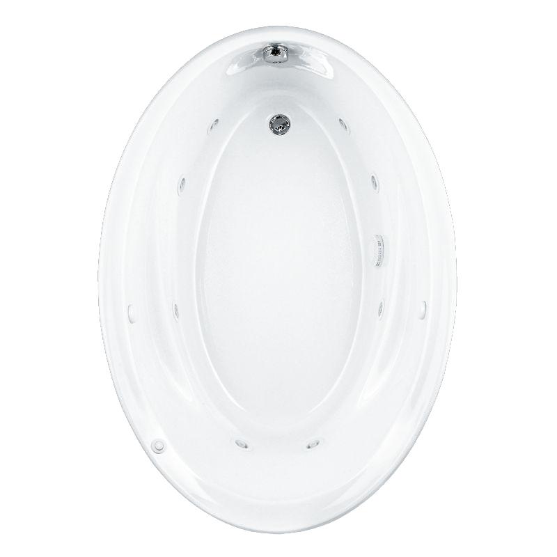 American Standard Savona Acrylic 60-In X 42.25-In Oval Drop-In Whirpool Bathtub