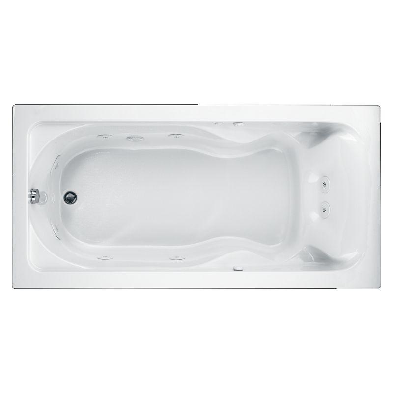 American Standard Cadet Acrylic 72-In X 42-In Drop-In Whirpool Bathtub