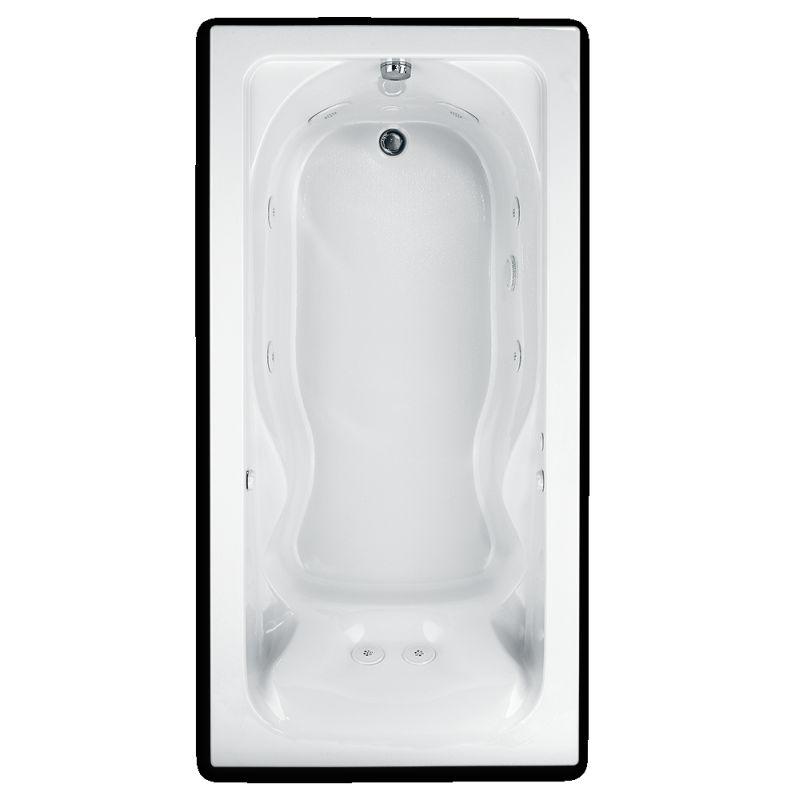 American Standard Cadet Acrylic 60-In X 36-In Drop-In Whirpool Bathtub