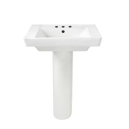 American Standard Boulevard 2-Piece Lavatory And Pedestal With 3 Faucet Holes (8 Centers)