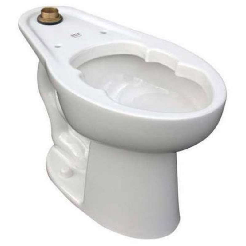 American Standard Madera Elongated Toilet Bowl With Top Spud And Slotted Rim