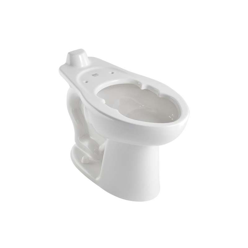 American Standard Madera Elongated Toilet Bowl With Back Spud And Slotted Rim