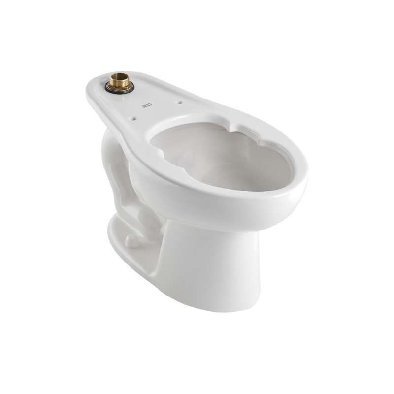 American Standard Madera Elongated Toilet Bowl And Top Spud With Slotted Rim