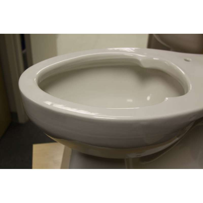 American Standard Priolo Elongated Toilet Bowl With Top Spud And Slotted Rim