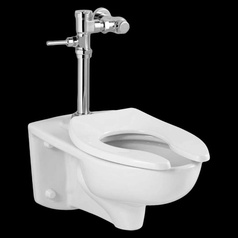 American Standard Afwall 1.28 GPF Toilet With Exposed Manual Flush Valve System