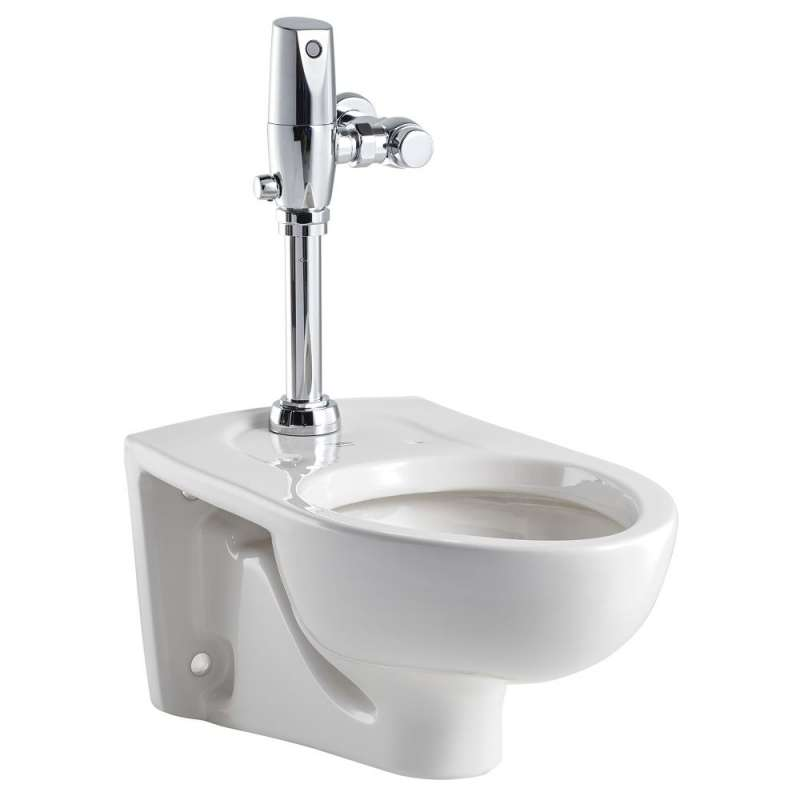 American Standard Afwall 1.28 GPF Toilet With Selectronic Exposed Battery Flush Valve System