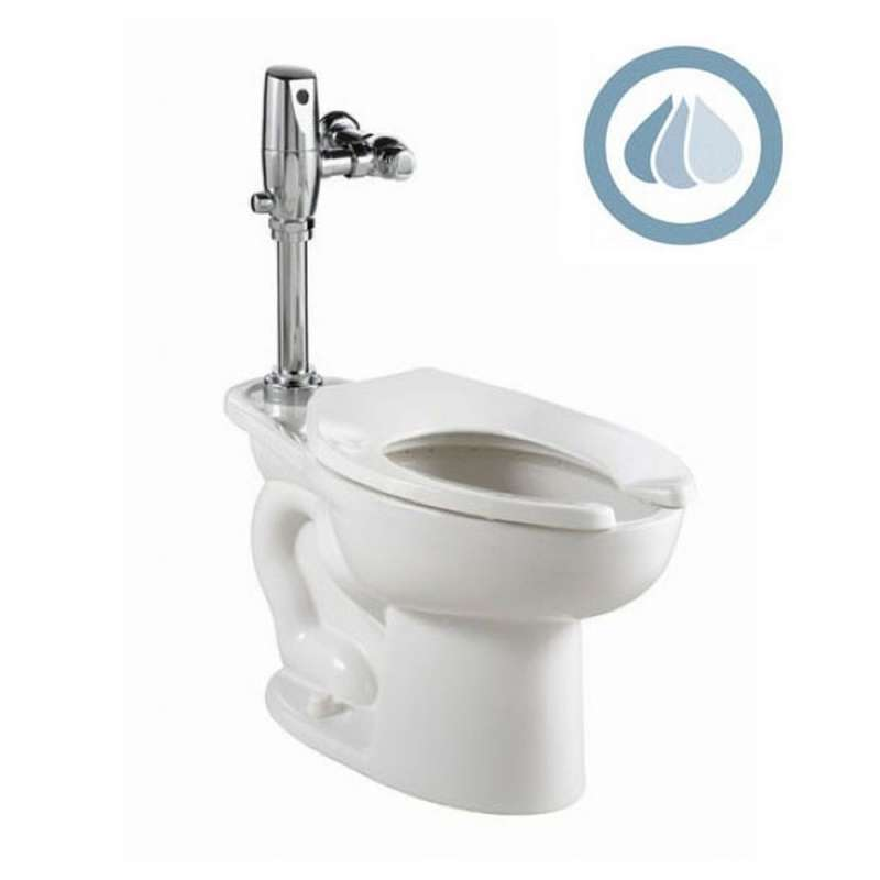 American Standard Madera 1.28 GPF ADA Toilet With Slectronic Battery Flush Valve System
