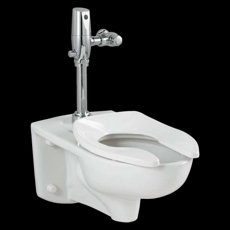 American Standard Afwall 1.28 GPF Exposed Top Spud Bowl And Selectronic Flush Valve