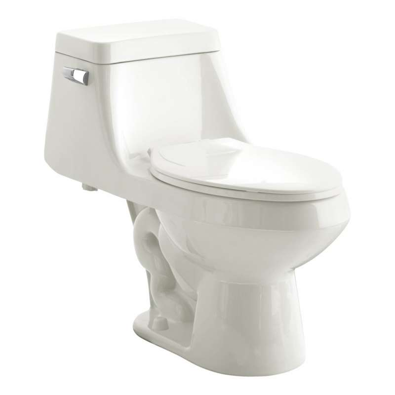 American Standard Fairfield 1.6 GPF One-Piece Single Flush Elongated Toilet With Toilet Seat