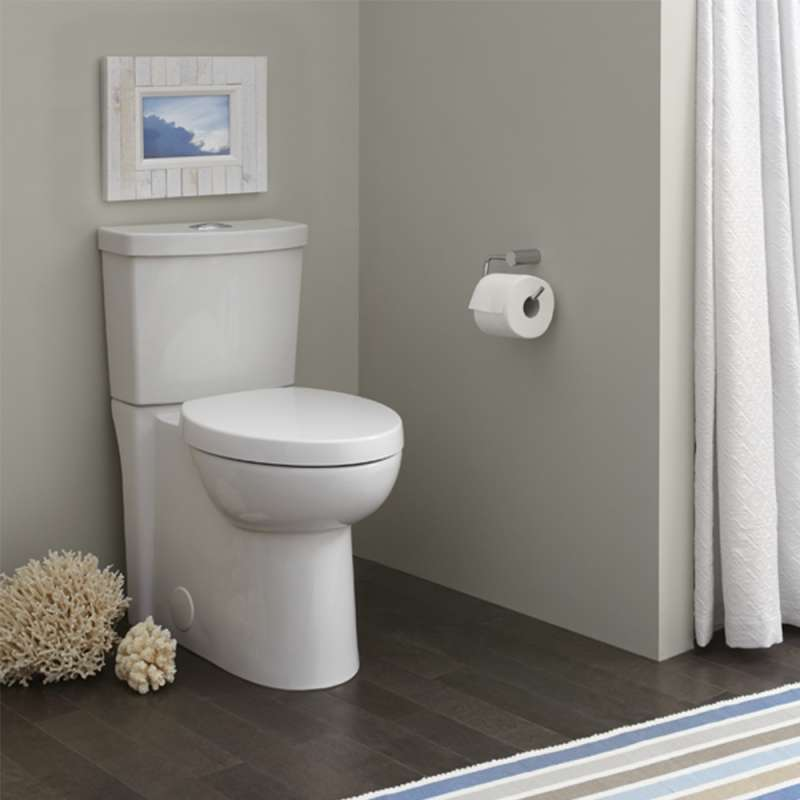 American Standard Studio 2 Piece Round Toilet With Dual Flush And 12 In Rough