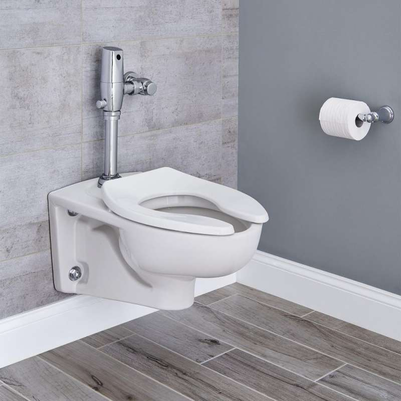 American Standard Afwall 1.1 GPF Toilet With Selectronic Flush Valve