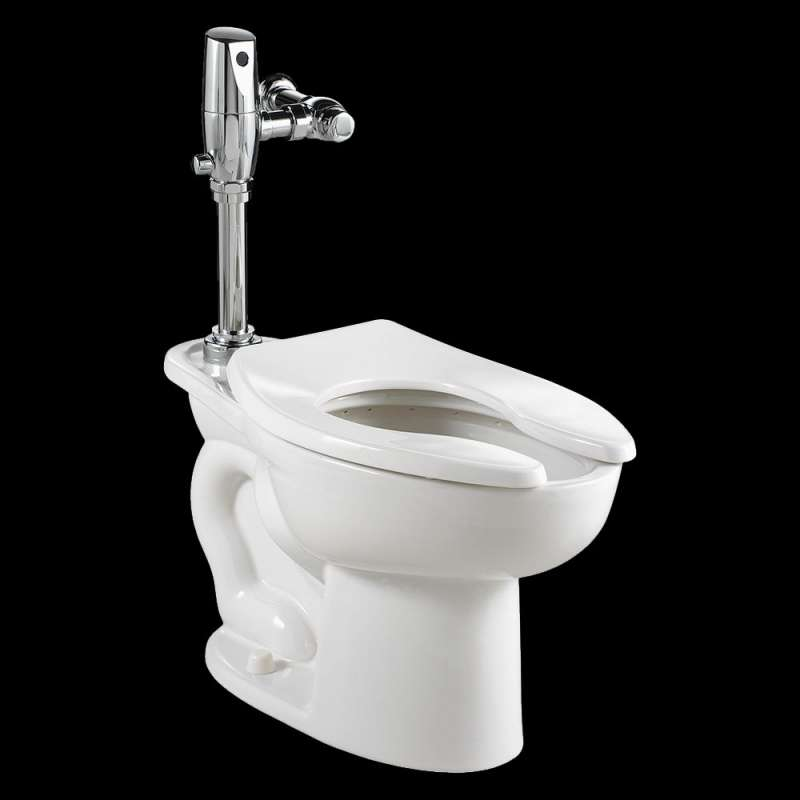 American Standard Madera 1.6/1.1 GPF ADA Dual Flush Toilet With Selectronic Exposed Battery Flush Valve System
