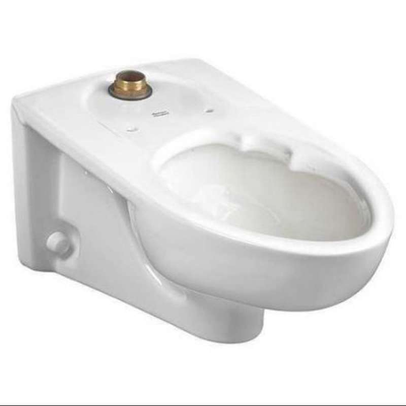 American Standard Afwall Elongated Toilet Bowl And Top Spud With Slotted Rim