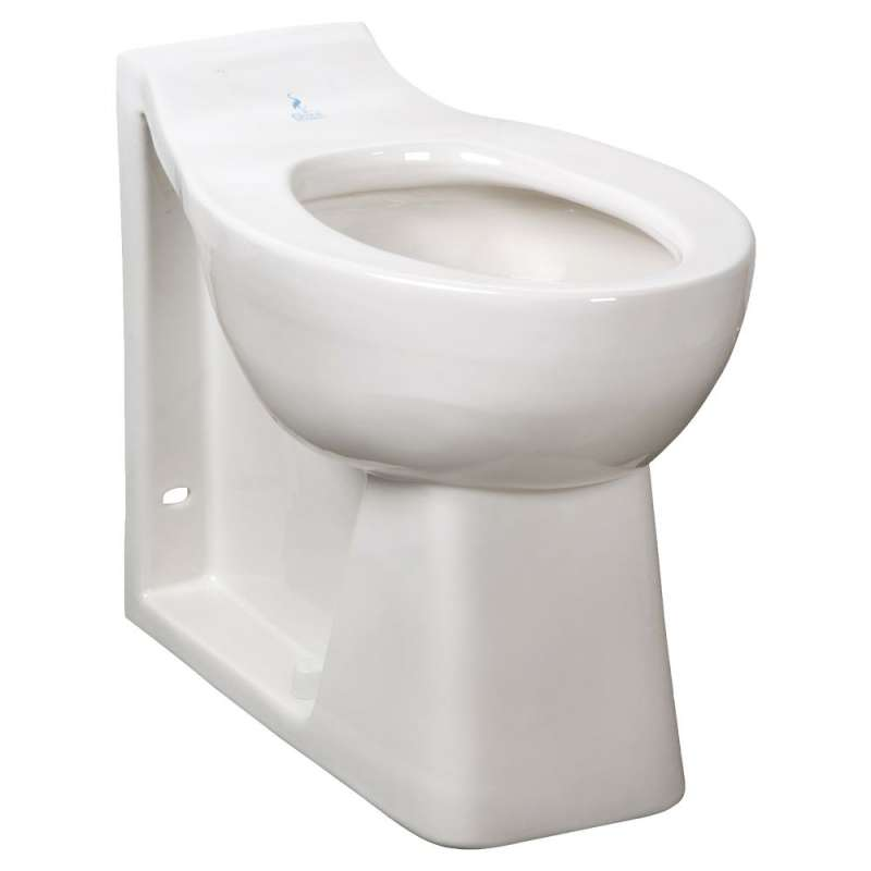 American Standard Huron Elongated Toilet Bowl With Top Spud And Wall Outlet