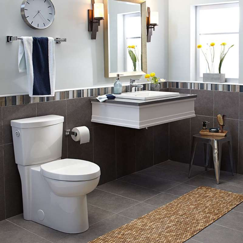 American Standard Studio 2-Piece Elongated Toilet With Concealed Trapway