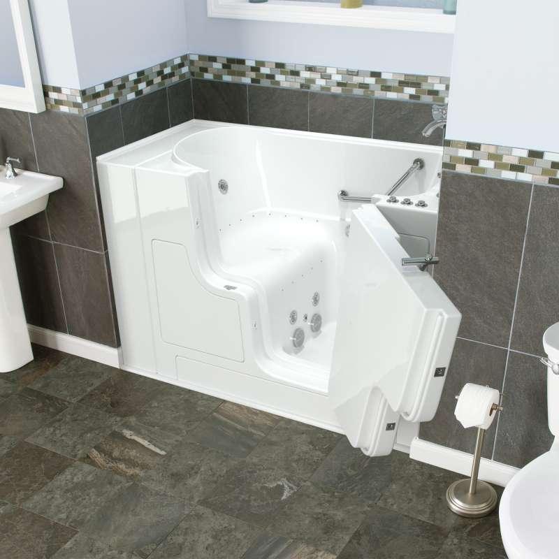 Buy American Standard Gelcoat Wit 30-In X 52-In Walk-In Air Spa And ...