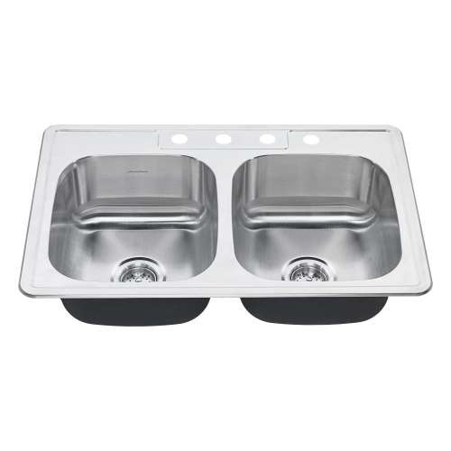 American Standard Colony 33-In Double Basin Kitchen Sink With 4 Faucet Holes