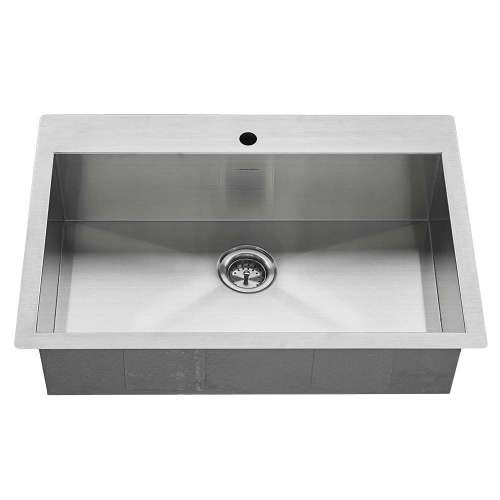 American Standard Edgewater 33-In Single Basin Kitchen Sink With Single Faucet Hole