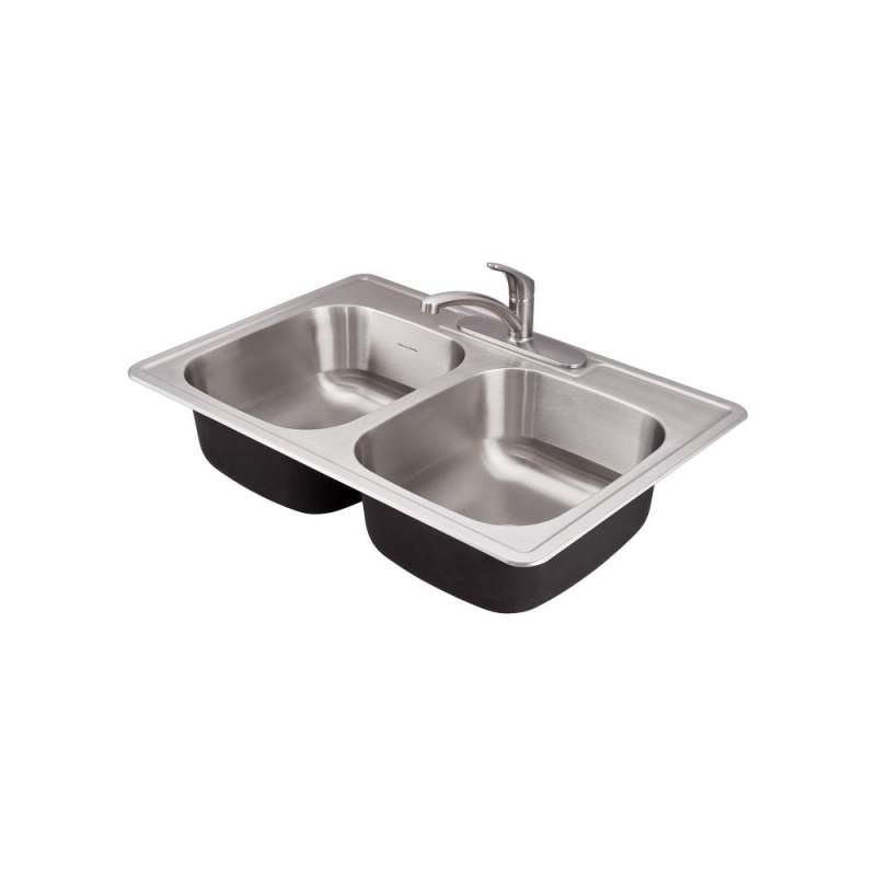 Buy American Standard Colony 33-In Double Basin Kitchen Sink With 3 ...