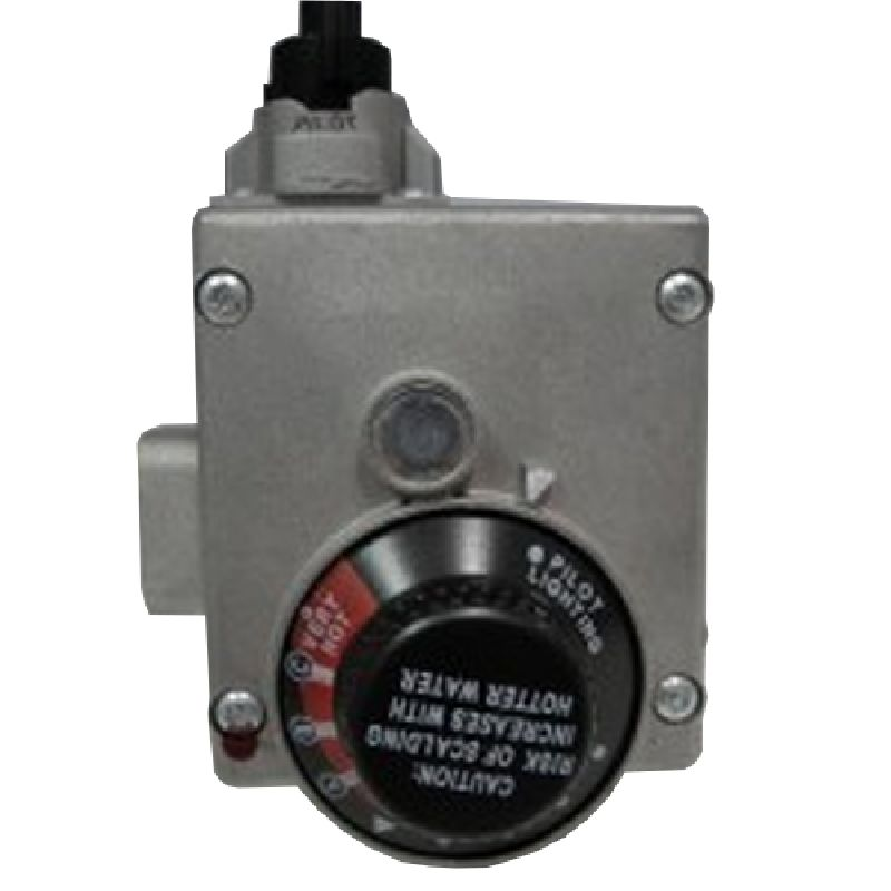 A.O. Smith Residential Gas Control Valve Temperature Control for NATURAL gas, 4in manifold pressure setting, pilot pressure fixed w/ECO cut off at 195 Degrees F; Temperature range to 160 Degrees F. (Shank=1 1/4in)