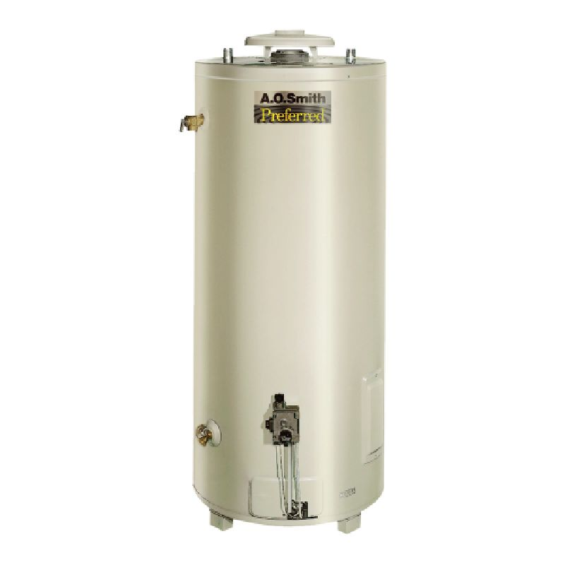 A.O. Smith Conservationist BT 75,100 BTU 98 Gal Natural Gas Tank Type Commercial Water Heater
