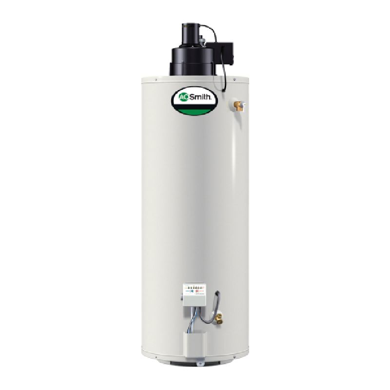 A.O. Smith ProMax Power Vent 50,000 BTU 40 Gal Residential Natural Gas Water Heater