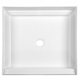 A2 32in x 32in Shower Base with Center Drain, Designed for Tile/Wall Applications
