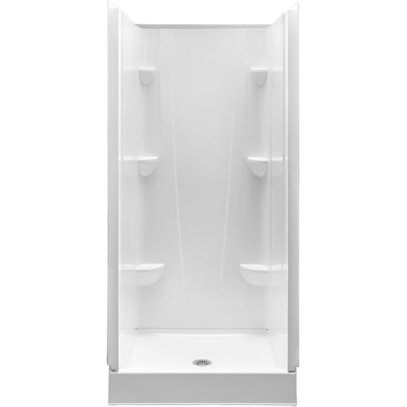 3636CS-AW - A2 36in x 36in x 76in Shower Unit with Center Drain