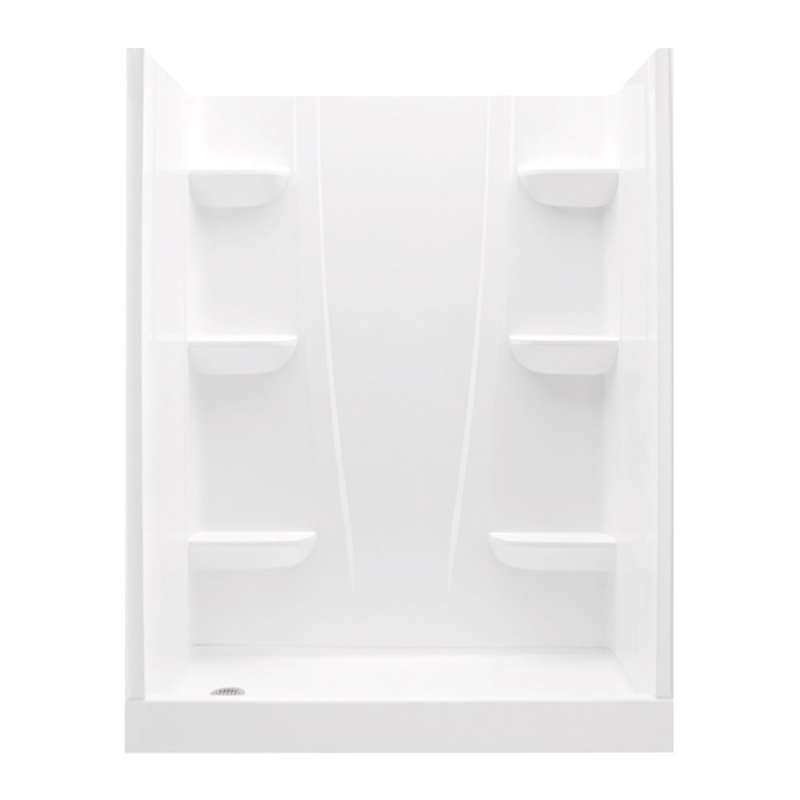 6030CSL-AW - A2 60in x 30in x 76in Shower Unit with Left Hand Drain