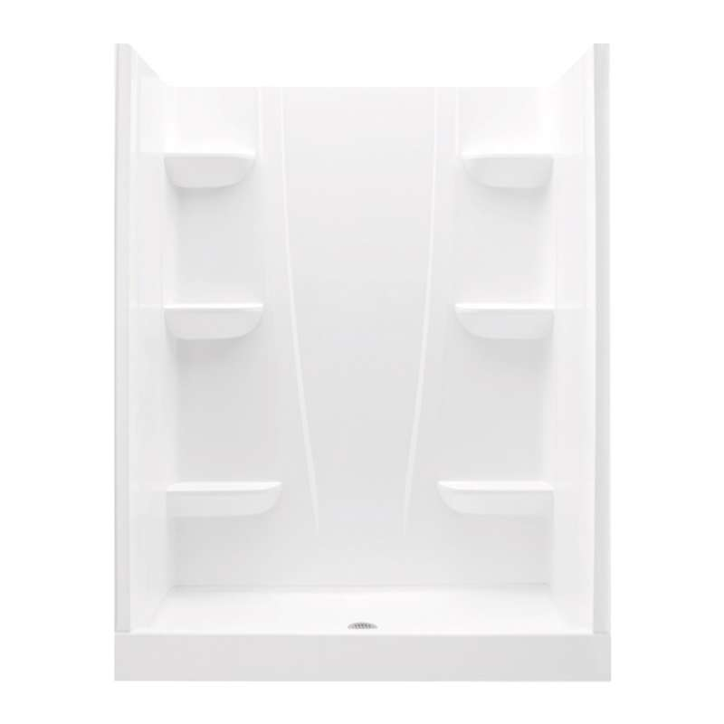 6034CS-AW - A2 60in x 34in x 76in Shower Unit with Center Drain