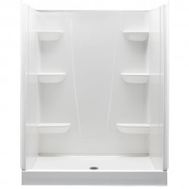 6034CS - A2 60in x 34in x 76in Shower Unit with Center Drain