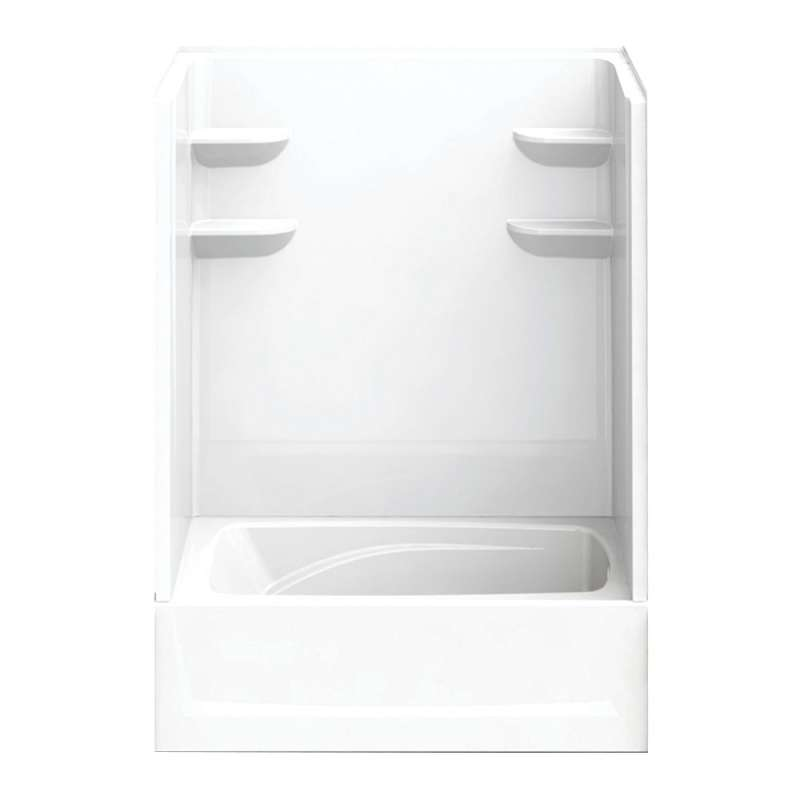 6036CTSM2R-AW - A2 60in x 36in x 82in Tub-Shower Unit with Right Hand Drain