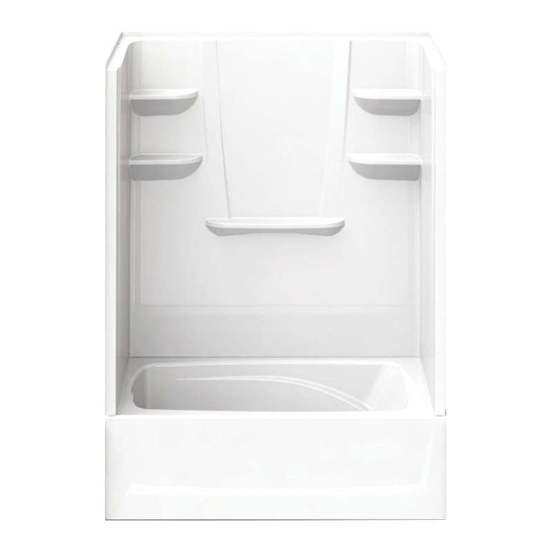6036CTSML-AW - A2 60in x 36in x 82in Tub-Shower Unit with Left Hand Drain