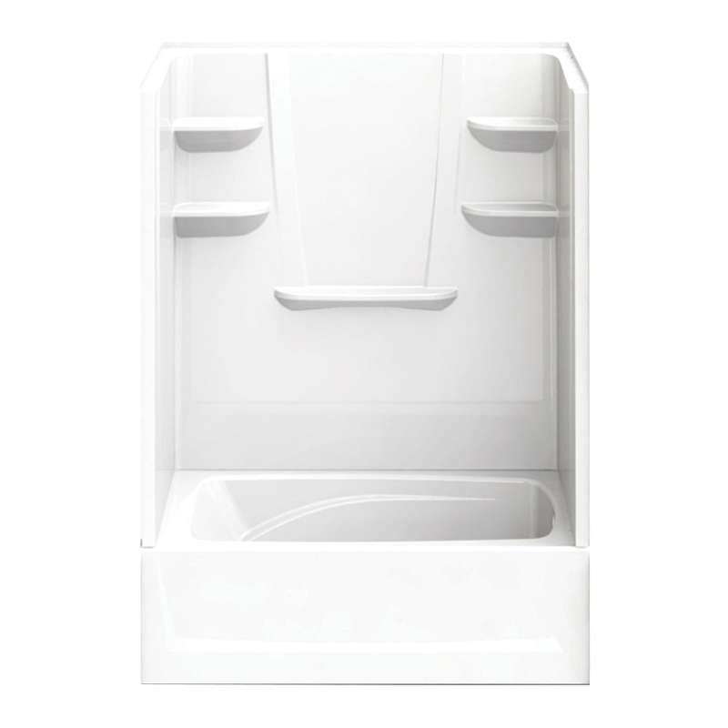 6036CTSR-AW - A2 60in x 36in x 79in Tub-Shower Unit with Right Hand Drain