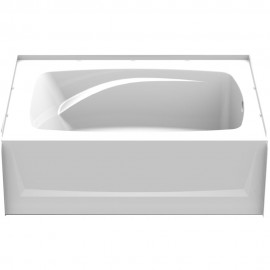 6042CTMR - A2 60in x 42in Soaking Bathtub with Right Hand Drain