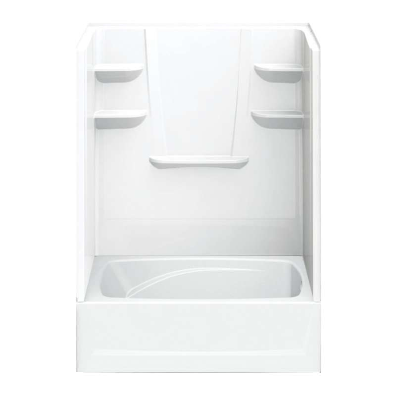 6042CTSR-AW - A2 60in x 42in x 79in Tub-Shower Unit with Right Hand Drain