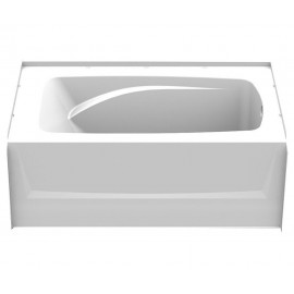 6036CTMR - A2 60in x 36in Soaking Bathtub with Right Hand Drain