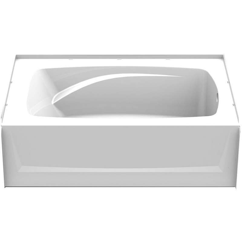 6042CTL-AW - A2 60in x 42in Soaking Bathtub with Left Hand Drain