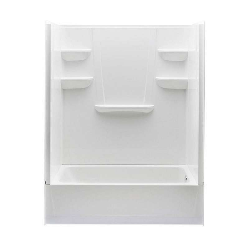 6030CTSR-AW - A2 60in x 30in x 76in Tub-Shower Unit with Right Hand Drain