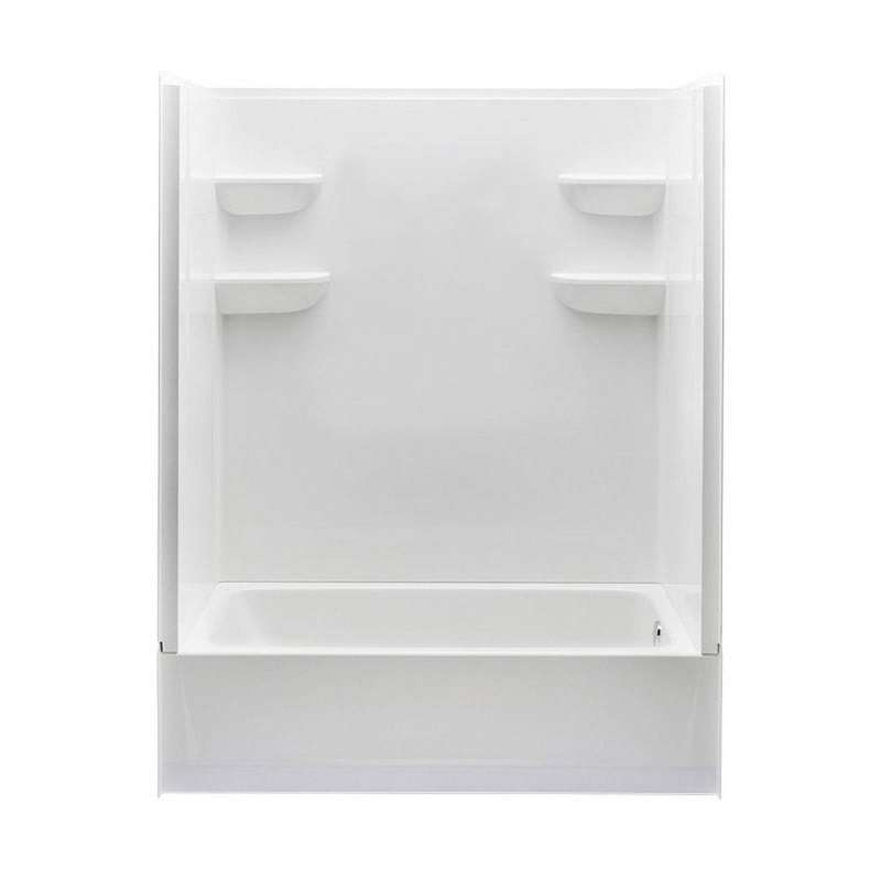 6030CTS2L-AW - A2 60in x 30in x 76in Tub-Shower Unit with Left Hand Drain