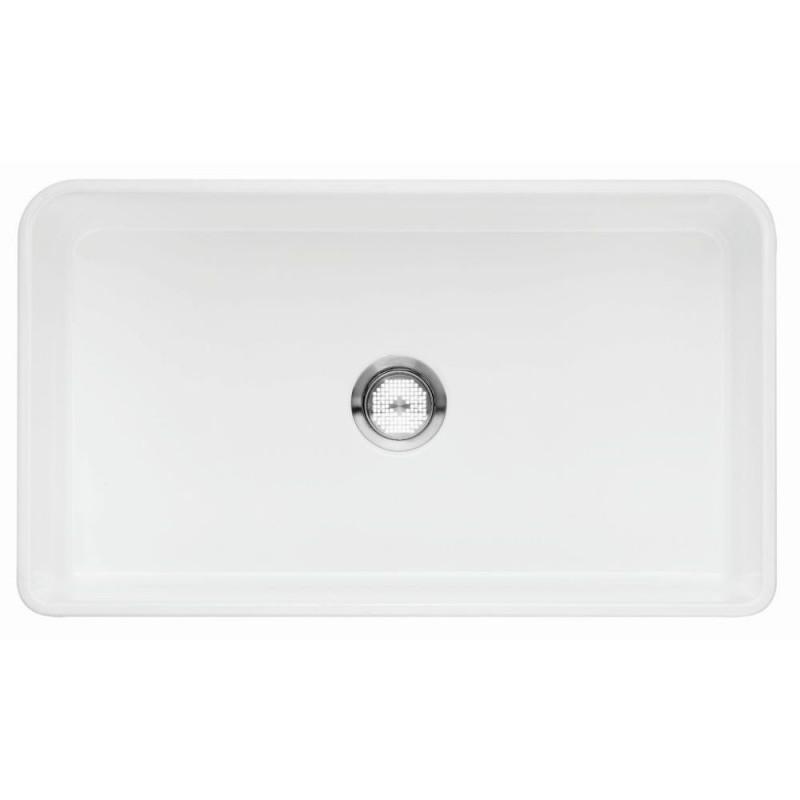 Blanco Cerana II 19-In X 33-In Fireclay Kitchen Sink